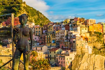 Grape Maiden Statue, Manarola, Cinque Terre, Italy