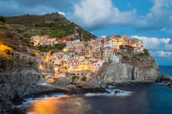 View from the promenade, Manarola, Cinque Terre, Italy