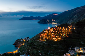 View of Presepe from Beccara trail, Manarola, Cinque Terre, Italy