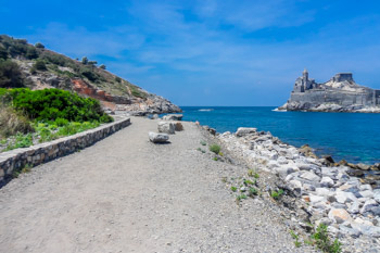 The trail on the Palmaria island, near Portovenere, Cinque Terre, Italy