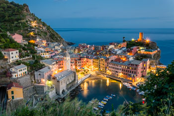View from the Blue Trail, Vernazza, Cinque Terre, Italy