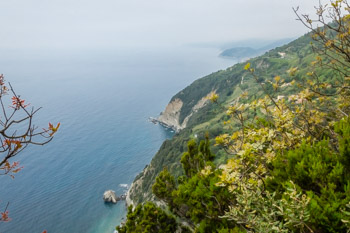View from the trail Monterosso - Levanto, Cinque Terre, Italy